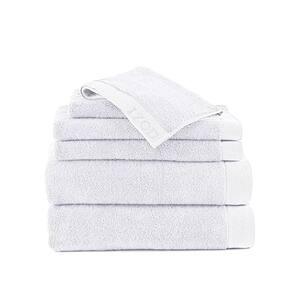 Classic 6-Piece Optical White Solid Bath Towel Set
