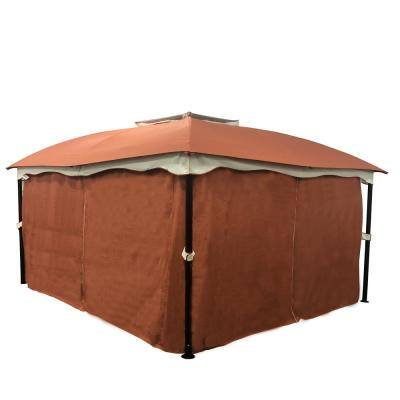 Gravina 12 ft. x 10 ft. Rust Orange Canopy Gazebo