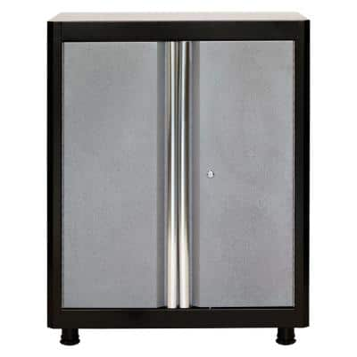Steel Freestanding Garage Cabinet in Black/Multi-Granite (30 in. W x 36 in. H x 18 in. D)