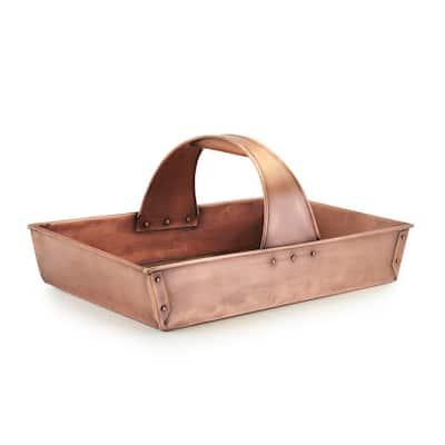 Large Pure Copper Garden Trug Basket