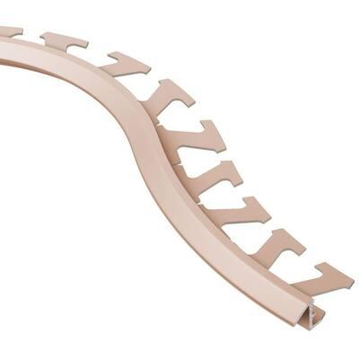 Reno-TK Satin Copper Anodized Aluminum 3/8 in. x 8 ft. 2-1/2 in. Metal Radius Reducer Tile Edging Trim