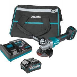 40V Max XGT Brushless Cordless 4-1/2/5 in. Paddle Switch Angle Grinder Kit with Electric Brake (4.0Ah)