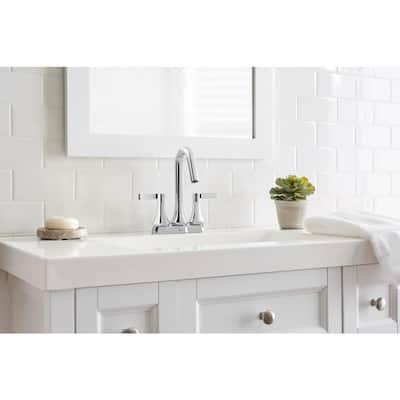 Springbrook 4 in. Centerset 2-Handle Bathroom Faucet in Chrome
