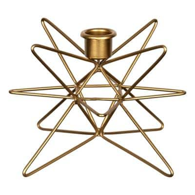Gold Geometric Star Candle Holder