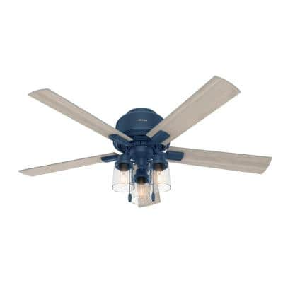 Hartland 52 in. LED Indoor Indigo Blue Ceiling Fan with Light Kit