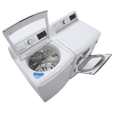 5.5 cu. ft. High Efficiency Mega Capacity Smart Top Load Washer with TurboWash3D and Wi-Fi Enabled in White, ENERGY STAR