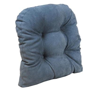 Gripper Non-Slip 17 in. x 17 in. Twillo Bluestone Tufted Universal Chair Cushions