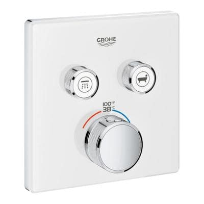 Grohtherm Smart Control Dual Function Square Thermostatic Trim with Control Module