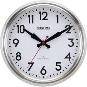Steel Victor Modern Whisper Clock