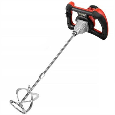 1600-Watt Handheld Electric Thinset Grout and Cement Mixer for Concrete, Mortars and Grouts
