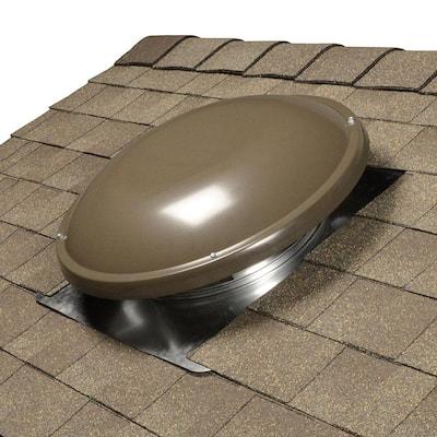 1250 CFM Weathered Wood Power Roof Mount Attic Fan