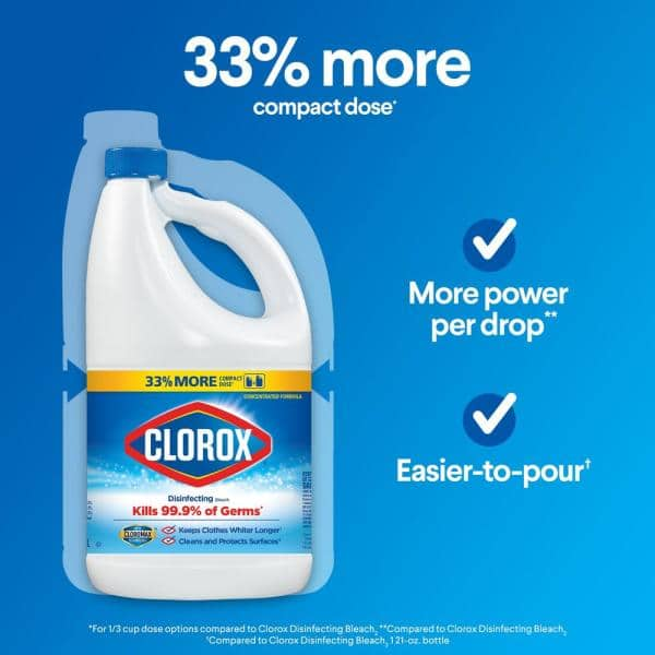 Clorox 81 Oz Regular Concentrated Liquid Disinfecting Bleach Cleaner 4460032263 The Home Depot