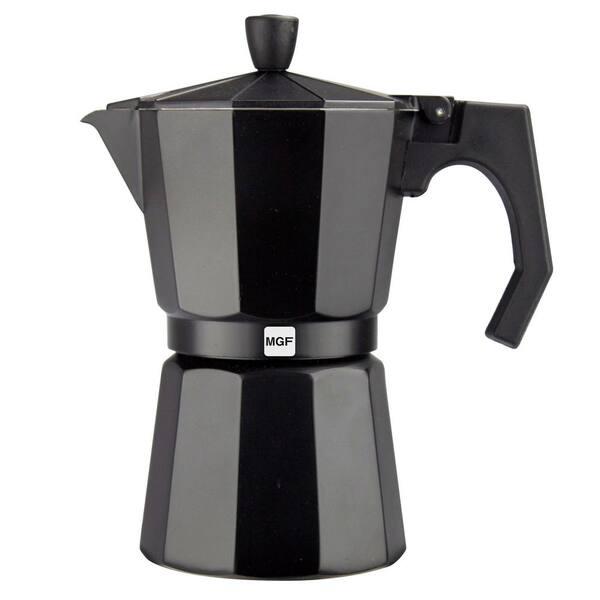Magefesa - Kenia Noir 6-Cups Aluminum Expresso Coffee Maker in Black