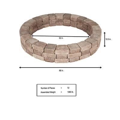 RumbleStone 66 in. x 10.5 in. Tree Ring Kit in Cafe