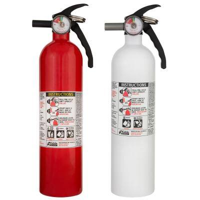 Basic Use & Kitchen Fire Extinguishers with Easy Mount Bracket, 1-A:10-B:C & 1-10-B:C Fire Extinguishers, 2-Pack