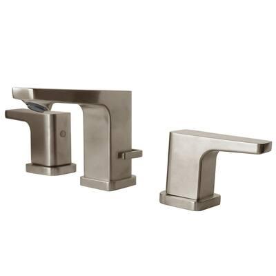 Kubos 2-Handle 8 in. Widespread Bathroom Faucet in Brushed Nickel
