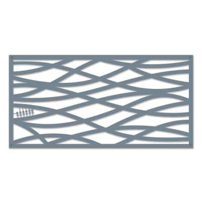 Wave 48 in. x 24 in. Twilight Polypropylene Multi-Purpose Decorative Panel
