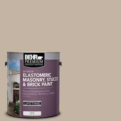 1 gal. #MS-43 Sandstone Elastomeric Masonry, Stucco and Brick Exterior Paint
