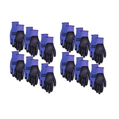 L/X-Large Size Men's Gripper Glove (12-Pack)
