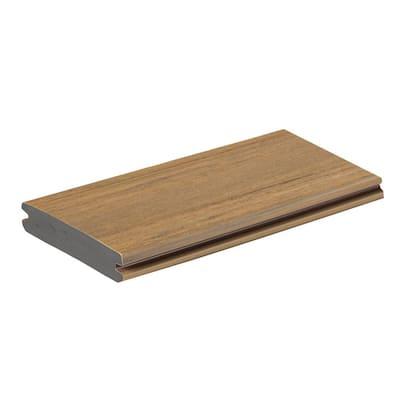 AZEK Vintage 1 in. x 5.5 in. x 1 ft. Weathered Teak PVC Deck Board Sample