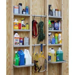 48 in. x 48 in. Shelving and Hooks Organization Kit with 8 Durable PVC Shelves and 4 Hooks