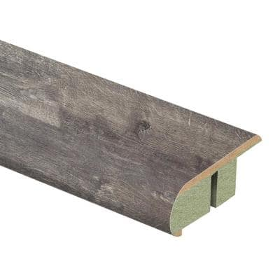 Milwick Gray Oak 3/4 in. Thick x 2-1/8 in. Wide x 94 in. Length Laminate Stair Nose Molding