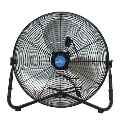 20 in. Multi-Purpose High Velocity Floor Wall Fan, Black