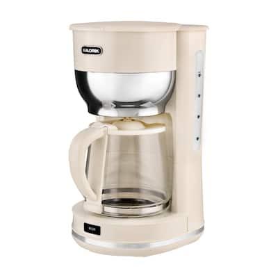 Retro 10-Cup Cream Drip Coffee Maker