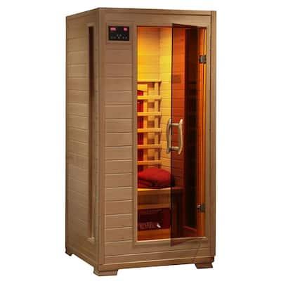 1-2 Person Hemlock Infrared Sauna with 3 Ceramic Heaters