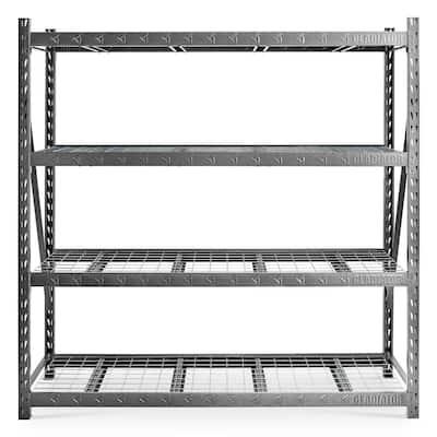 4-Tier Heavy Duty Welded Steel Garage Storage Shelving Unit (90 in. W x 90 in. H x 24 in. D)