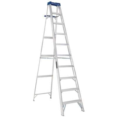 10 ft. Aluminum Step Ladder with 250 lbs. Load Capacity Type I Duty Rating
