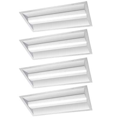 4 ft. x 2 ft. 100-Watt Equivalent Integrated LED White Retrofit Troffer Kit 4000K Bright White 5000 Lumens (4-Pack)