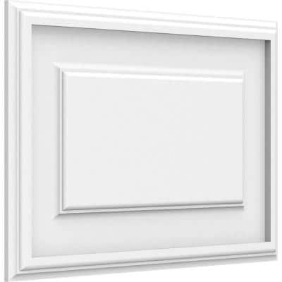 5/8 in. x 18 in. x 12 in. Legacy Raised Panel White PVC Decorative Wall Panel