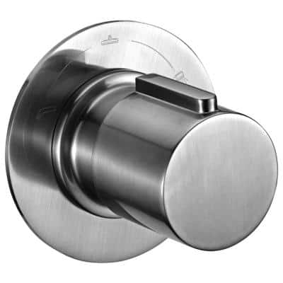 Single-Handle Shower Diverter with Sleek Modern Design in Brushed Nickel