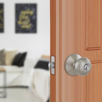 Hartford Satin Nickel Keyed Entry Door Knob