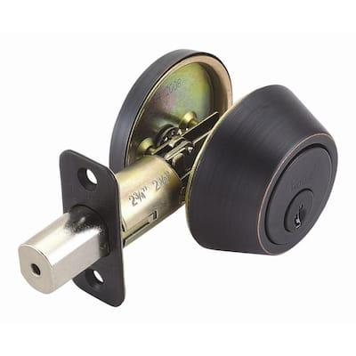 Single Cylinder Oil-Rubbed Bronze Deadbolt