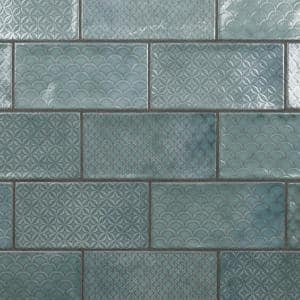 Camden Decor Emerald 4 in. x 8 in. Ceramic Wall Tile (11.9 sq. ft./Case)
