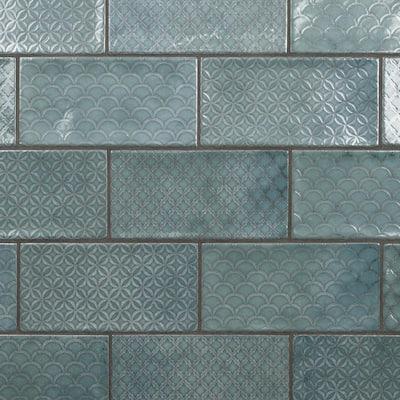 Camden Decor Emerald 4 in. x 8 in. Ceramic Wall Tile (11.9 sq. ft./Case)