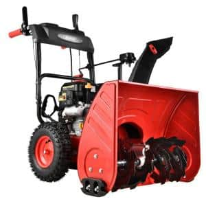 26 in. 2-Stage Gas Snow Blower with LED Light Electric Start
