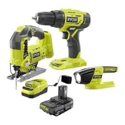 ONE+ 18-Volt Cordless Combo Kit (3-Tool) with (1) 1.5 Ah Battery and Charger