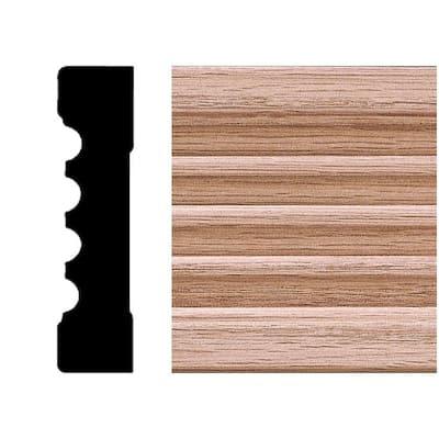 3/4 in. x 3 in. x 8 ft. Oak Wood Fluted Casing Moulding
