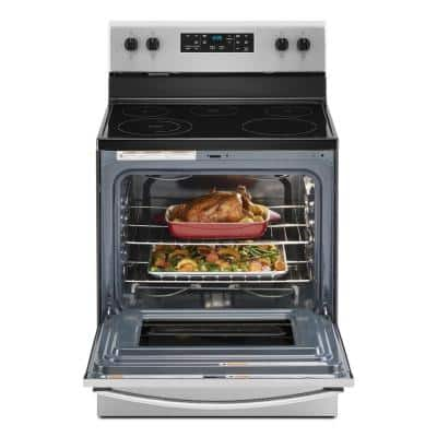 30 in. 5.3 cu. ft. Electric Range with 5-Elements and Frozen Bake Technology in Stainless Steel