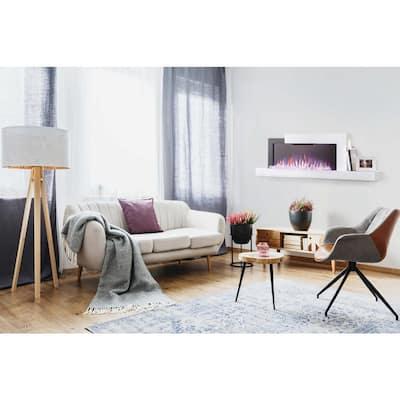 Stylus Wall Mount Electric Fireplace with Shelf