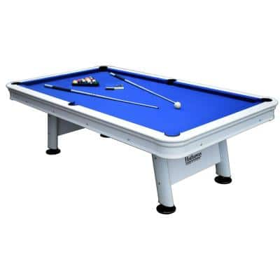 Alpine 8 ft. Outdoor Pool Table with Aluminum Frame and Waterproof UV-Resistant Felt Includes Accessories