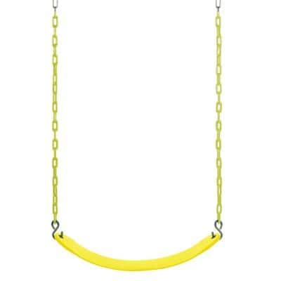 Belt Swing for All Ages with Vinyl Coated Chain in Yellow