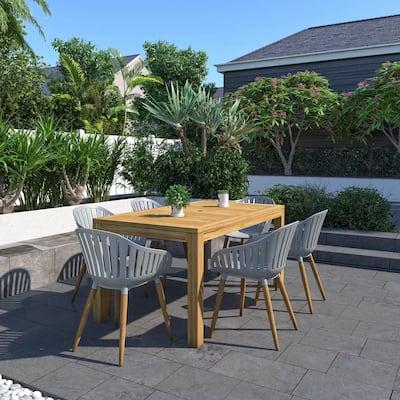 Maurice 7-Piece Teak Rectangular Outdoor Dining Set