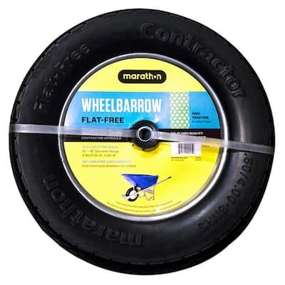 15.5 in. Flat-Free Contractor Wheelbarrow Wheel