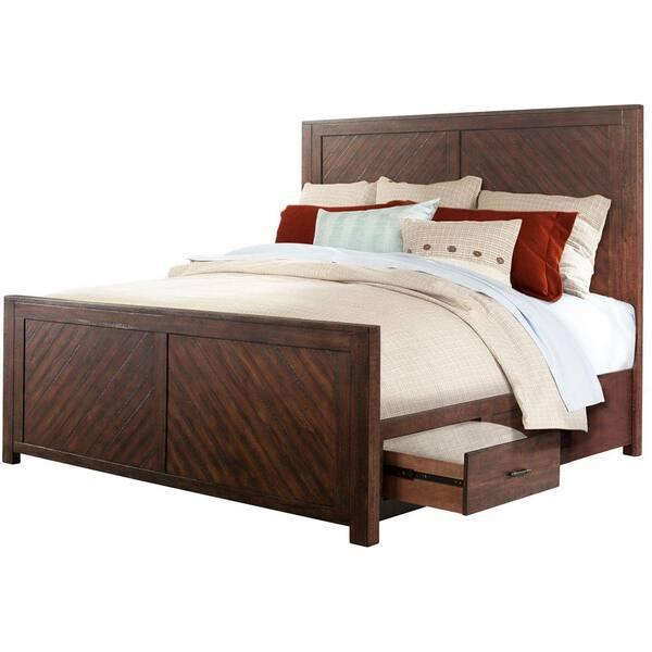 Cambridge Montana Smoky Walnut Queen, Walnut Storage Bed Queen