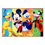 Mickey Mouse Multi-Color 5 ft. x 7 ft. Clubhouse Juvenile Area Rug