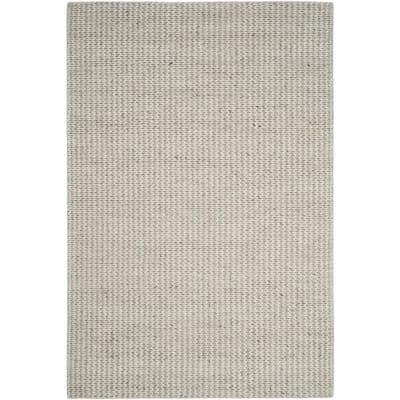 Natura Ivory/Silver 6 ft. x 9 ft. Solid Area Rug